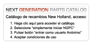 catalogo de Recambios new holland